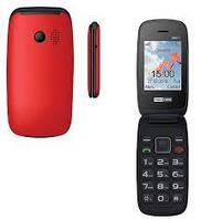 Кнопочный телефон раскладушка с большим дисплеем и камерой на 2 сим карты Maxcom MM817 Red