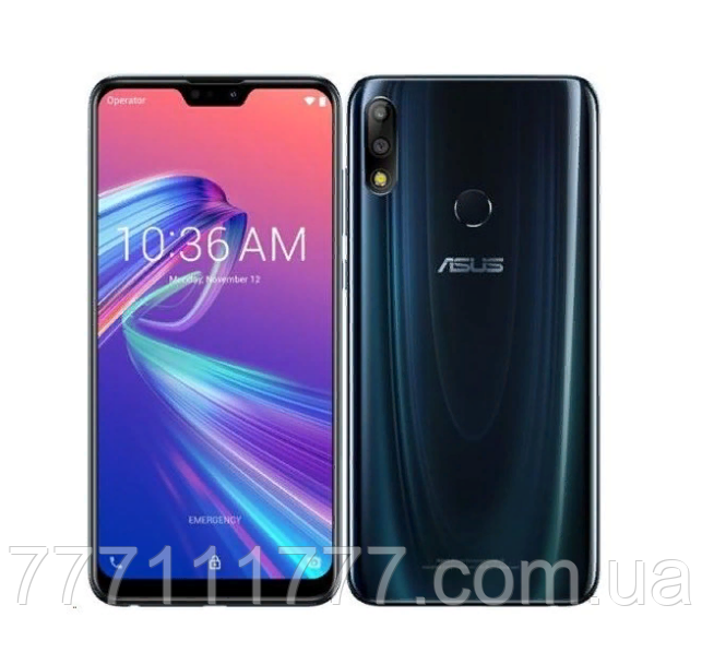 Смартфон с мощной батареей на 2 сим Asus ZenFone Max Pro M2 ZB631KL 4/64гб blue NFC
