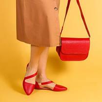 Балетки кожаные рыжие плоские под заказ 36-41, фото 3