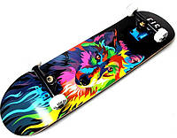 СкейтБорд деревянный от Fish Skateboard wolf