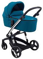 Детская коляска для новорожденных универсальная 2 в 1 всесезонная Ibebe с умной тормозной системой i-stop Chrome Бирюзовый