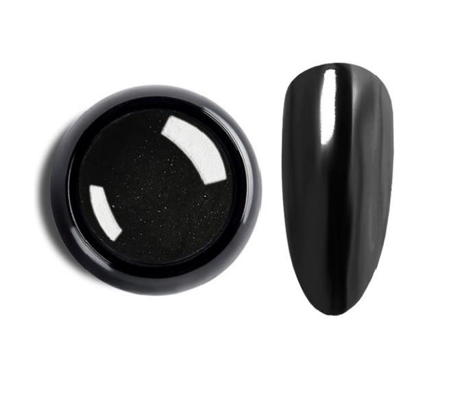 Зеркальная втирка для ногтей F14 (черный), 2 г