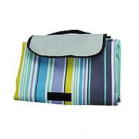 Раскладной коврик для пикника Supretto 145х180 см в полоску Разноцветный (5535)
