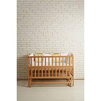 Детская кровать для детей от рождения до 4 лет из натурального дерева Goydalka VALERI маятник, откидной бок