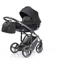 Всесезонная детская коляска 2 в 1 для новорожденных универсальная Junama Onyx 01 J-O-01 Черный
