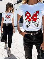 Женская футболка стильная белого цвета (Норма)