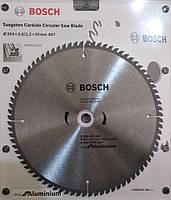 Диск пильный BOSCH по алюминию 254х3.0х2.2х30х80Т