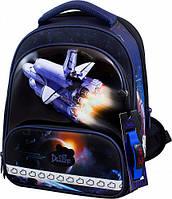 Рюкзак школьный ортопедический ранец DeLune для мальчика Шаттл + сменка + жесткий пенал + часы