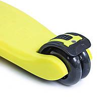 Детский самокат Smart. Yellow. Складная ручка!, фото 3