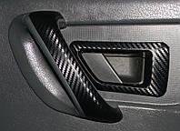 Карбон пленка черный 3D глянцевый 100х152 см. текстура крупная 2,5х4 мм.