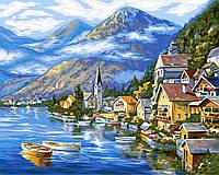 "Картина по номерам. ""Австрийский пейзаж"" 40*50см. KpN-01-01U"