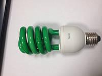 Лампа энергосберегающая зеленого цвета Е27