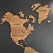 Карта мира деревяная (ясень), фото 5