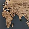 Карта мира деревяная (ясень), фото 6