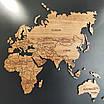 Карта мира деревяная (ясень), фото 3