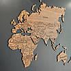 Карта мира деревяная (ясень), фото 7