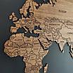 Карта мира деревяная (ясень), фото 2