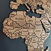 Карта мира деревяная (ясень), фото 8
