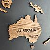 Карта мира деревяная (ясень), фото 10