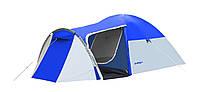 Палатка 4-х местная Presto Acamper MONSUN 4 PRO  синяя - 3500 мм. H2О - 4,1 кг.