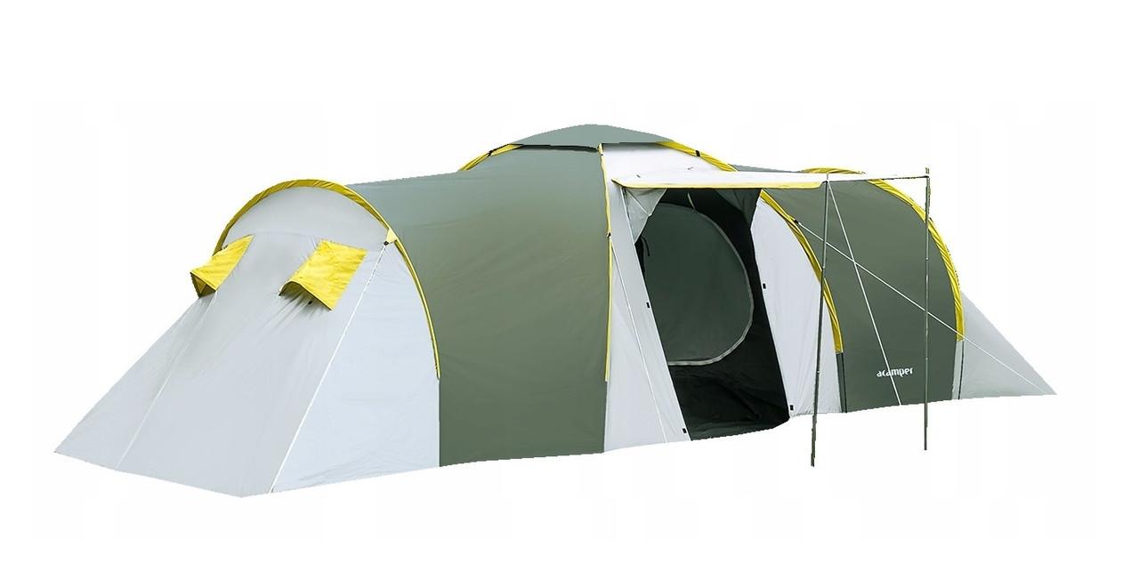 Палатка 6-ти местная  Presto Acamper NADIR 6 PRO зеленая- 3500 мм. H2О - 8,7 кг.