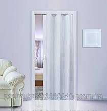 Двери гармошка Ясень Folding  межкомнатные, глухие, складные, раздвижные, пластиковые, скрытые