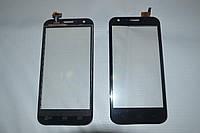 Оригинальный тачскрин / сенсор (сенсорное стекло) для Prestigio MultiPhone 5501 Duo (черный цвет, самоклейка)