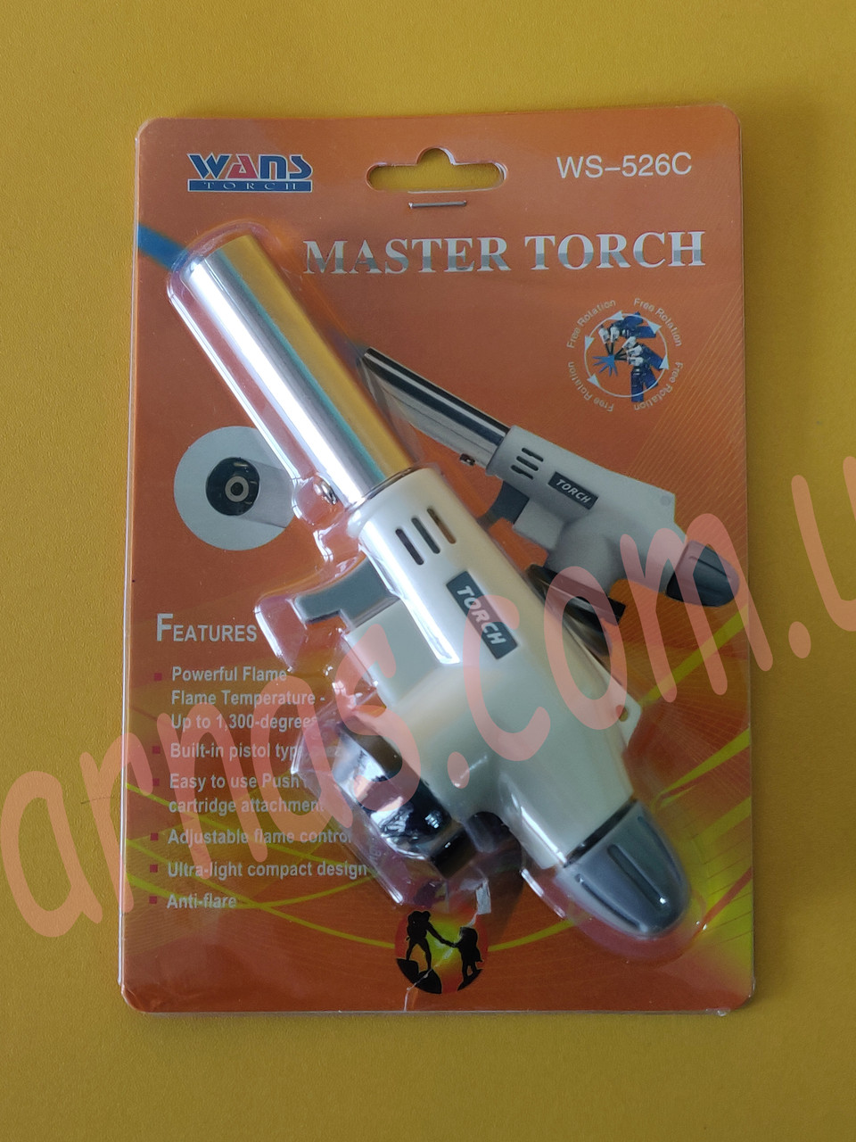 Газовая горелка с пьезоподжигом Master Torch WS-526