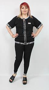 Турецкий летний женский костюм в спортивном стиле, размеры 50-62