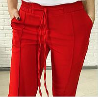 Стильные женские брюки батал с высокой посадкой Indigo