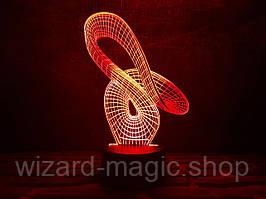 3D ночник Лента Мебиуса 2