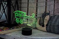 3D светильник ночник Паровозик