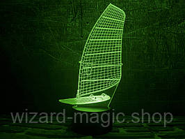 3D светильник Парусник