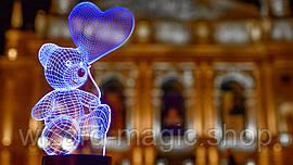 Сменная пластина для 3D ламп Мишка с шариком