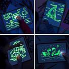 Набір для творчості малювання Freeze lisht Малюй світлом планшет А4 трафарет у темряві малюй світлом, фото 3