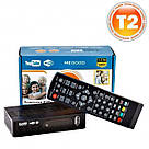 Приемник DVB-T2 для цифрового телевидения Тюнер LCD с поддержкой wi-fi адаптера+Megogo ТВ ресивер ТВ тюнер, фото 3