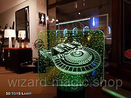 3D ночник Космический корабль