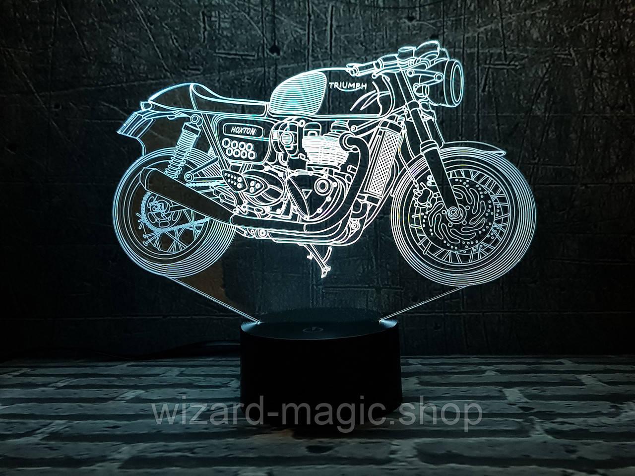 3D Светильник Мотоцикл 7