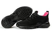 Кроссовки женские Jomix черные, дышащий материал, прошиты. Код DO-17537