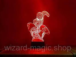 Ночник 3D светильник Человек паук 3D Creative