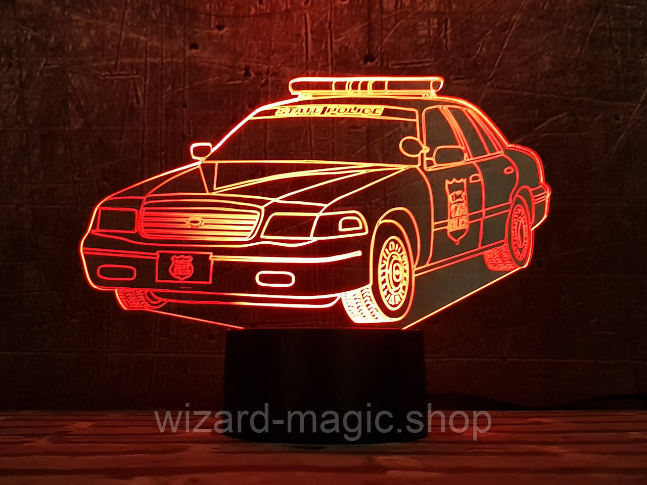 3D светильник ночник Автомобиль 30