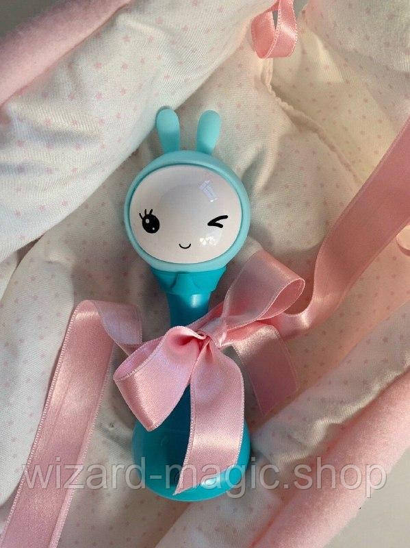 Игрушка-ночник Smarty Зайка Alilo R1 YoYo бирюзовый