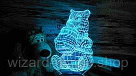 3D светильник ночник Винни-Пух