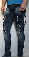 Джинси чоловічі CHARJ Jeans молодіжні, синього кольору Турция