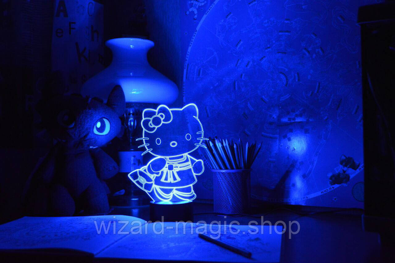 3D светильник ночник Kitty