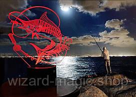 3D светильник Рыбалка