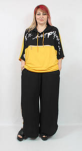 Турецкий летний женский костюм в спортивном стиле больших размеров 58-70