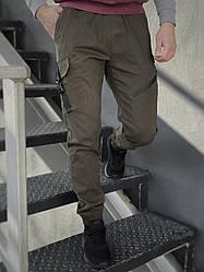 """Котоновые штаны Intruder """"Fast Traveller"""", стильные мужские штаны + ключница в подарок! Цвет: олива"""