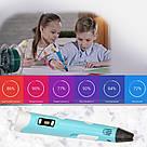 3D ручка для малювання пластиком 3д Ручка 2-го покоління Pen2 MyRiwell з LCD дисплеєм, з пластиком в комплекті, фото 5