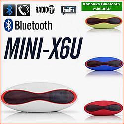 Портативна Колонка Bluetooth USB MicroSD 3Вт Mini-X6U мобільна блютус